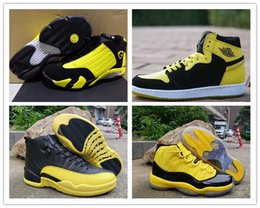 Wholesale Retro Big Kids Mens Basketball Shoes Bumblebee Yellow Black s s s baskets Jumpman des chaussures Trainers Sports Sneakers