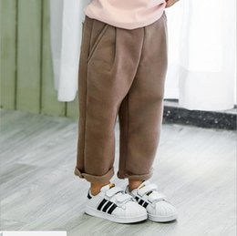 3b31e23ef4 Korean children s clothing winter new product bag cat whiskers middle and  small children sanding warm harem pants boys and girls Korean vers