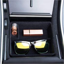 Flocked Center Console Tray Организатор Совместимость с Tesla Model 3 (2017 2018 2019) Пользовательские Обновление аксессуаров на Распродаже