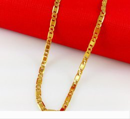 24k indian gold necklaces chain Canada - Fashion hot-selling models single-chain 24k gold-plated necklace allergy long time fade