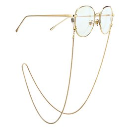 eyeglass anti slip Australia - Fashion Women Reading Glasses Chain Metal Alloy Cords Holder Neck Strap Anti-Slip Eyeglasses Chain Pearl Rope Eyewear Stars Reta
