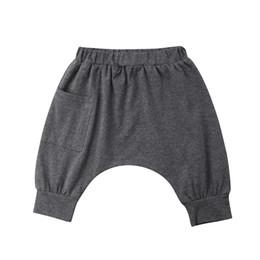 Boy Trousers Black Australia - Fashion Toddler Kid Baby Boy Harem Pants Bottom Loose Pants with Pocket Trousers 0-5Y Gray Black