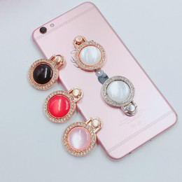 apple cell phone finger holder UK - Luxury Gem Diamond Anti Drop Finger Ring Holder for Iphone X 7 6 6p 8p 6s 8 Plus Cell Phone Universal Holder Bracket Wholesale
