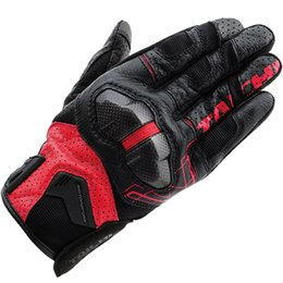 Black Leather Bike Gloves Australia - RST426 Leather Mesh Breathable Black Red Gloves Moto Bike Racing Motorcycle Riding Men's Gloves