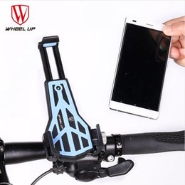 wholesaler bicycles Australia - WHEEL UP Bicycle Handlebar Phone Holder Adjustable MTB Road Bike Cellphone Bracket Triangle Stability3.5-7 Inch Bike Phone Clip