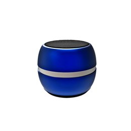 Mini Mobile Speakers UK - Mini MD06 Bluetooth Speaker Metal Drum 3D Surround Wireless Speaker LED Dazzle Color Portable Subwoof Gift for Mobile Laptop iphone Samsung