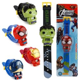Wholesale 3D electronic cartoon children s Watch Telescopic deformation Spiderman Batman Child Watches For Student Boys Girl Kids Wristwatch