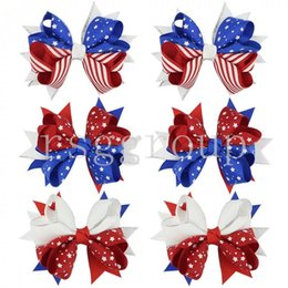 Headbands Bow Australia - Independence Day girls hair bows barrettes US Flag Hairpins Clippers Girls Hair Clips USA Flag Headbands JOJO SIWA Hair Accessories