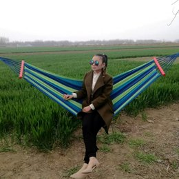 $enCountryForm.capitalKeyWord Australia - 2019 Hot Outdoor travel equipment leisure camping double canvas indoor single widened hammock to send rope Free Shipping