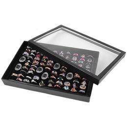 $enCountryForm.capitalKeyWord Canada - wholesale 100 Grids Ring Display Box Jewelry Tray Case Portable Jewelry Ring Carrying Tray Holder Cufflinks Storage Box Organizer