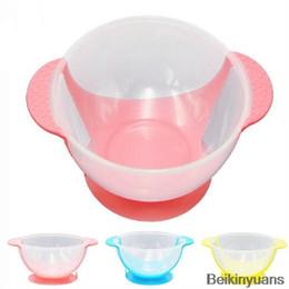 Infant Feeding Bowls NZ - Infant baby child child feeding training bowl cartoon binaural baby feeding tableware children plate suction cup bowl