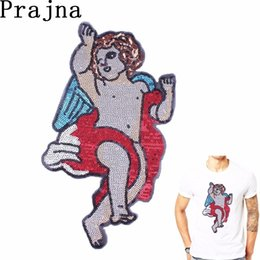 $enCountryForm.capitalKeyWord NZ - Prajna Cute Dancing Angel Sewing On Embroidery Sequin Patches For Clothing Fabric Jacket Stickers On Jeans Decor Accessories D
