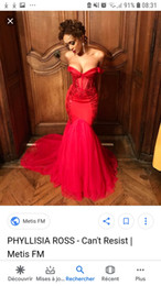 Off Shoulder Mermaid Pageant Dress Red Australia - Mermaid Red Lace Tulle Evening Prom Dresses Cheap 2019 Pleated Draped Off The Shoulder Pageant Dress Girls Formal Gowns Party Vestidos De
