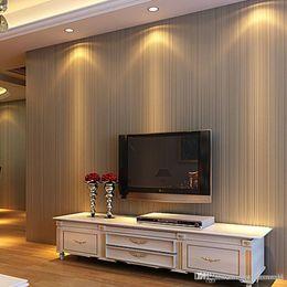 Roll Paper Heat Australia - Modern 3D Embossed Wallpaper Roll 3D Minimalist Stripe Wallpapers for Walls Wallpaper Desktop Home Decor Wall Paper Covering