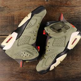 $enCountryForm.capitalKeyWord Australia - 2019 New Travis x 6s Mens Basketball Shoes Suede Medium Olive Man Designer Sports Sneakers Baskets 6 des Chaussures Men Zapatos Size 7-12