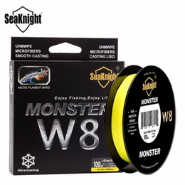 Discount monster braid Monster 8 Strands 150M fiber braid Fishing Lines 20-100LB PE Strong Multifilament Wide Angle Technology PE Fireline Ultra 8 Superline