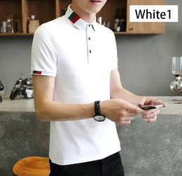 Fashion Polo Mens Tops NZ - Mens Fashion Summer Polos 2019 Men New Arrival Solid Color Tops Clothing Summer Hot Sale Mens Slim Polos Men Casual Polo Shirts Size M-3XL