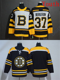 Patrice bergeron black ice jersey online shopping - Youth Boston Bruins Hockey Jersey Patrice Bergeron All Stitched Hockey Jerseys Kid S M L XL White Black