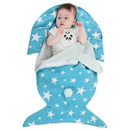 Wrap Sleeping Bag Australia - Newborn Baby Blanket Warm Fleece Lining Rabbit Ear Swaddle Wrap Bag Sleeping Swaddling Infant Sack Bedding Quilt Stroller Cover