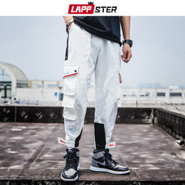 $enCountryForm.capitalKeyWord NZ - LAPPSTER Men Hip Hop Color Block Cargo Pants Overalls Pockets Streetwear Joggers Pants Sweatpants Casual Trousers Track