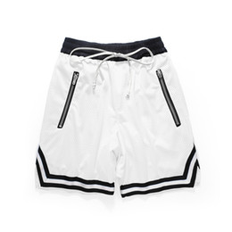 White Workout Shorts NZ - Basketball Short Pants Zipper Pocket Men White Casual Streetwear Gym Workout Fitness Running Fashion Trendy Clothing Shorts