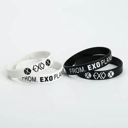 $enCountryForm.capitalKeyWord Australia - 1 Pcs KPOP EXO Album Birthday Bracelets Sport Silicone Friendship Wristband Bangles Fashion Accessories For Men Women
