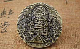 Aztec Coin Wholesalers Australia - 1x Large Mayan Aztec Calendar Souvenir Prophecy Commemorative Coin Collection