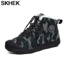 kids snow boots for boys UK - SKHEK Boys Boots Winter Kids Snow Boots Sport Children Shoes For Boys Sneakers Fashion 2020 New Leather Child Shoes Size 28-39
