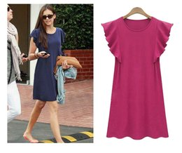 T Shirt Ruffle Dress Australia - Plus Size Casual Ruffles Womens Dress Summer T-shirt Dress Fashion Classic A-line Mini Dress Young Girl Dresses