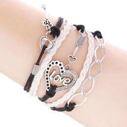 Artificial Chains Wholesalers Australia - Women's Love Heart Locks Keys Alloy Artificial Leather Charm 15 g 17-23 cm   6.7-9.0 inch (Length) Bracelet