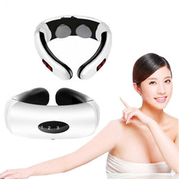 New Electric Pulse Back and Neck Massager Far Infrared Heating Tool Health Care Relaxation Intelligent Cervical Massager on Sale
