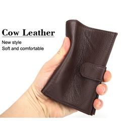 $enCountryForm.capitalKeyWord NZ - Business Men's Certificate Bag Wallets New Fashion Cow Genuine Leather Short Wallet Passport Wallet Brand Luxury Card ID Holders