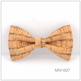 wood matches wholesale UK - 2019 cross-border hot hot style fashion men creative wood grain wedding fashion handmade color matching bow tie