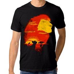 O Rei Leão Simba T-Shirt, O Rei Leão Tee, Todos os tamanhos das Mulheres Dos Homens de Algodão de Qualidade Superior Homens Casuais T Camisas Dos Homens Frete Grátis em Promoção
