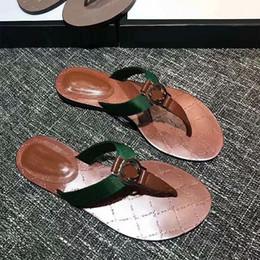 86315ef32f9b 2019 Wholesale Women thong Web sandal black white brown Casual Handmade  Walking Tennis Sandals Slippers Mules Slides Thongs size 35-42