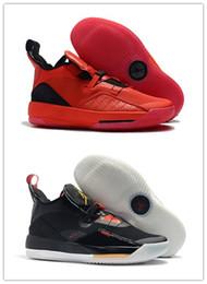 Nike Air Jordan Retro Shoes 33 XXXIII Año Nuevo Chino Universidad Rojo Negro Hombres Baloncesto Calzado deportivo 33s Zapatillas de deporte para hombre Entrenadores Año del cerdo en venta