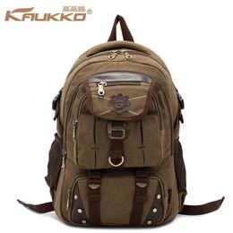 $enCountryForm.capitalKeyWord Australia - KAUKKO Canvas Backpack Laptop Bag Tactical Tool Gears Backpack Anti-scratch Knapsack Rucksack Travel Sports Bag
