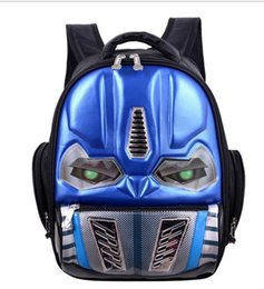 cool school bags for boys UK - Cartoon School Backpack For Boys And Girls Children Cool 3d Robot Backpack Kindergarten Book Bags Mochila Infantil Rucksacks J190427