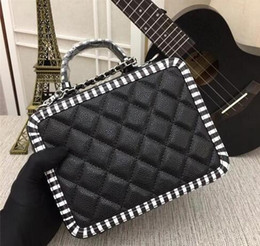 Zebra Chains Australia - 2019 women's handbags ball pattern high quality Messenger bag, zebra pattern edging medium camera bag size 21X16X10CM
