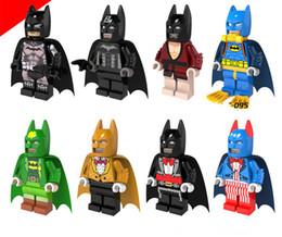 block puzzle toy 2019 - Batman Building Block Puzzle Canonicals 8 patterns Super Heros Marvel Toys Captain America Deadpool Thanos Hulk Ironman