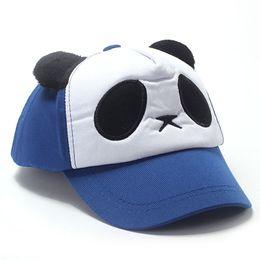 Peaked Hat Snapback Baseball Cap Adjustable Hats 2019 Lovely Panda Print  Solid Unisex Casquette Vintage Hats For Kids  3 81dac2de657e