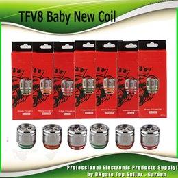 Autêntico TFV8 Bebê Novo Besta Cabeça Da Bobina V8 Bebê Q4 Tira De Malha T12 Luz T12 0.15ohm Bobinas Para TFV12 Bebê Príncipe Tanque 100% Genuíno venda por atacado