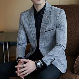 Discount slim fit luxury suits - 2019 New Arrival Luxury Men business Blazer Suit Jacket For Men Suit Jackets Casual Slim Fit Dress Suits Blazers S-5XL