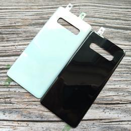 Vente en gros Pour SAMSUNG S10 S10 + Couvercle de la batterie arrière Couvercle de la batterie Porte Vitre arrière Logement pour Samsung Galaxy S10 S10 Plus Boîtier arrière