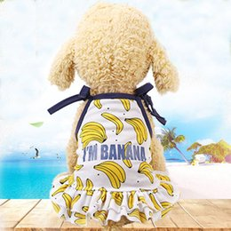 Cool Sweatshirt Jackets Australia - 2019 New Sale Summer Pet Banana Skirt Cute Dog Couple Costume Cat Cool Vest Terrier Yorkshire Comfortable Shirts Spring Beach Swimming
