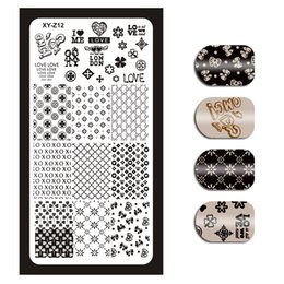 Cartoon Stamping Australia - 1Piece 32 Styles(01-32) Stamping Template Rectangle Flower Love Cartoon Floral Nail Art Image Plate Nail Stamping Plates XYZ012#