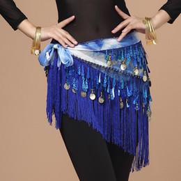 Coin Scarf Belly Dancing Australia - 2018 Oriental Coins Belt Women Belly Dance Costumes Accessories Sequin Tassel Hip Scarf Belly dance Belt Hip Scarf Bellydance