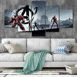 marvel art prints NZ - Marvel Avengers Canvas Posters Home Decor Wall Art Framework 5 Pieces Paintings Style4 For Living Room HD Prints Moive Pictures