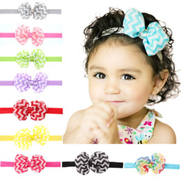 $enCountryForm.capitalKeyWord NZ - New Baby Bowknot Wave Headbands Elastic Photography Hair Band For Girls Children Hair Accessories Free shipping