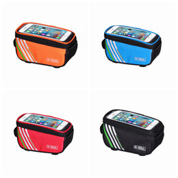 Waterproof mobile holder online shopping - Bicycle Bags Bike Frame Holder Mobile Phone Bag Case Pouch Touch Scree Cycling Bag for phone inch LJJZ375